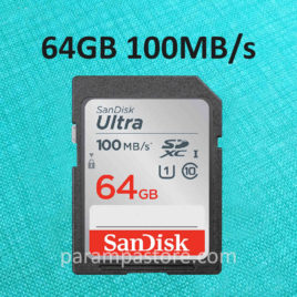 Memory Card Sandisk Ultra SD Card SDXC UHS-I Class 10 64GB 100MB/s