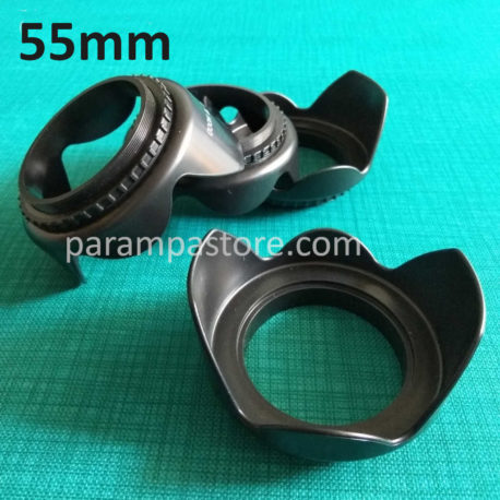 Flower Lens Hood Kamera DSLR Mirrorless 55mm