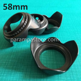 Flower Lens Hood Kamera DSLR Mirrorless 58mm