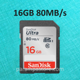 Memory Card Sandisk Ultra SD Card SDHC UHS-I Class 10 16GB 80MB/s